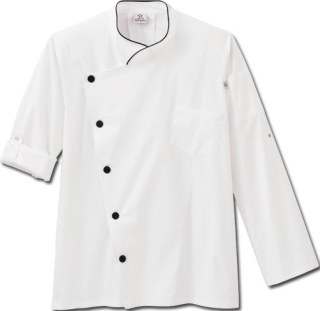 Five Star Chef Apparel Unisex Long Sleeve Stretch Executive Chef Coat