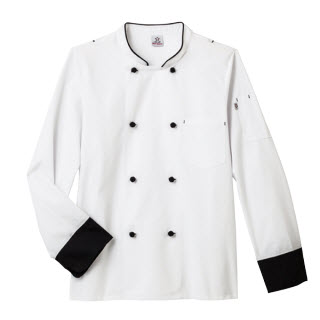 Five Star Chef Apparel Unisex Long Sleeve Executive Chef Coat