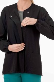 Jockey® Classic Women's Leopard Tonal Print Warm Up Jacket