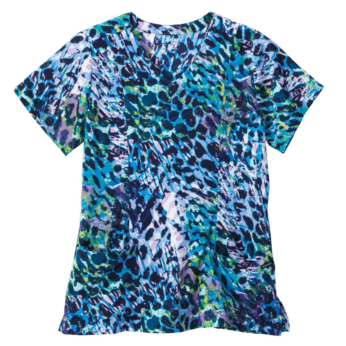 2359 Jockey® Scrubs Ladies Print Mock Wrap Top
