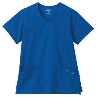 Jockey® Scrubs Ladies Asymmetrical Grommet Top
