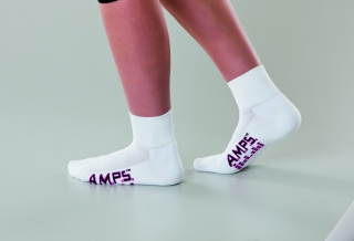 5913 AMPS Ladies Quarter Crew Lite Performance Sock