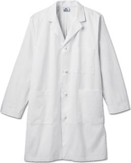 "Meta Mens 40"" Cotton Knot Button iPad Labcoat"