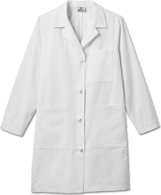 "763 Meta Ladies 38"" Cotton Knot Button iPad Labcoat-Meta"