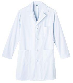 """Meta Men's 38"""" Knot Button Cotton Long Labcoat"""