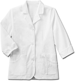 "Meta 29"" Ladies 3/4 Sleeve Stretch Labcoat"