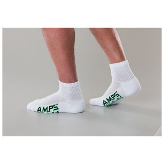 5871 AMPS Mens Quarter Crew Performance Sock-AMPS