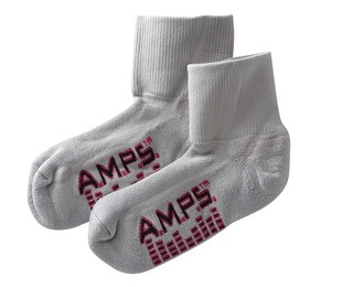 5912 AMPS Ladies Quarter Crew Lite Performance Sock-AMPS