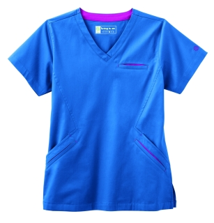 Bio Stretch Ladies Angle V-Neck Top-BIO