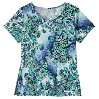 Bio Prints Ladies Crossover Top-BIO