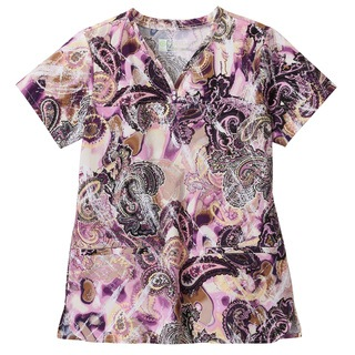 5319 Bio Prints Ladies Shaped Neckline Top