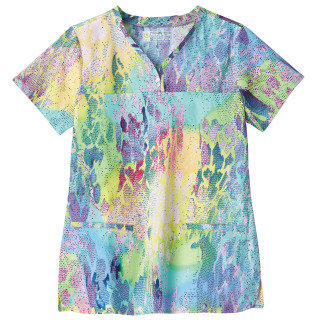 Bio Prints Ladies Shaped Neckline Top-