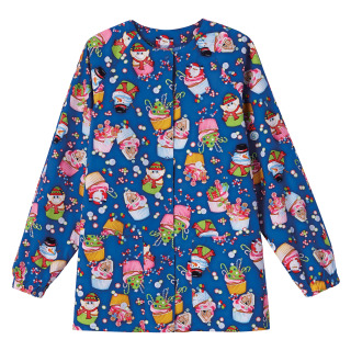 5832 Bio Prints Ladies Raglan Sleeve Warm Up Jacket-BIO