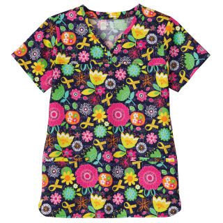 5962_Bio Prints Ladies Shaped Neckline Top-Bio