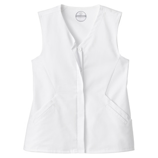 Fundamentals Ladies Hidden Placket Button Front Vest-Fundamentals