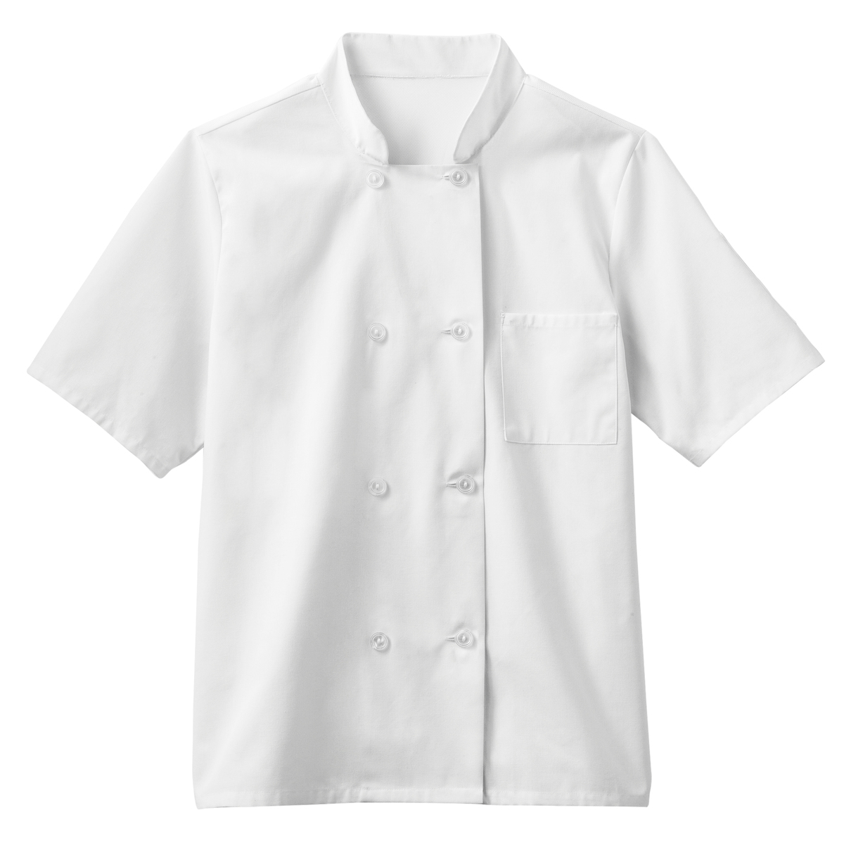 Five Star Chef Apparel Men's Moisture Wicking Mesh Back Chef Coat