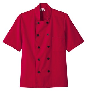 Five Star Chef Apparel Men's Short Sleeve Chef Jacket-Five Star