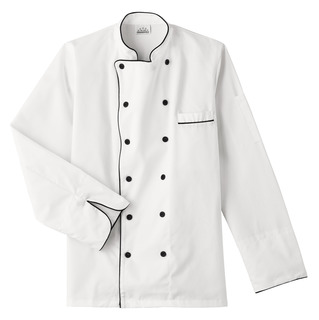 Five Star Executive Chef Jacket with Black Trim-Five Star