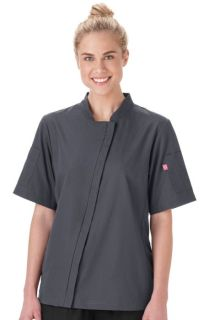 Five Star Ladies Angle Zip Front Chef Coat-Five Star