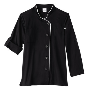Five Star Ladies Long Sleeve Stretch Executive Chef Coat-