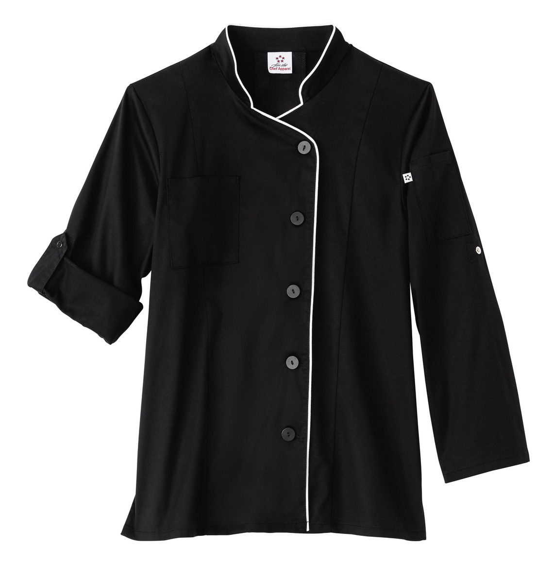 Five Star Ladies Long Sleeve Stretch Executive Chef Coat