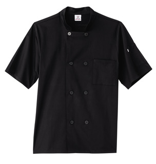 Five Star Unisex Short Sleeve Stretch Executive Chef Coat-