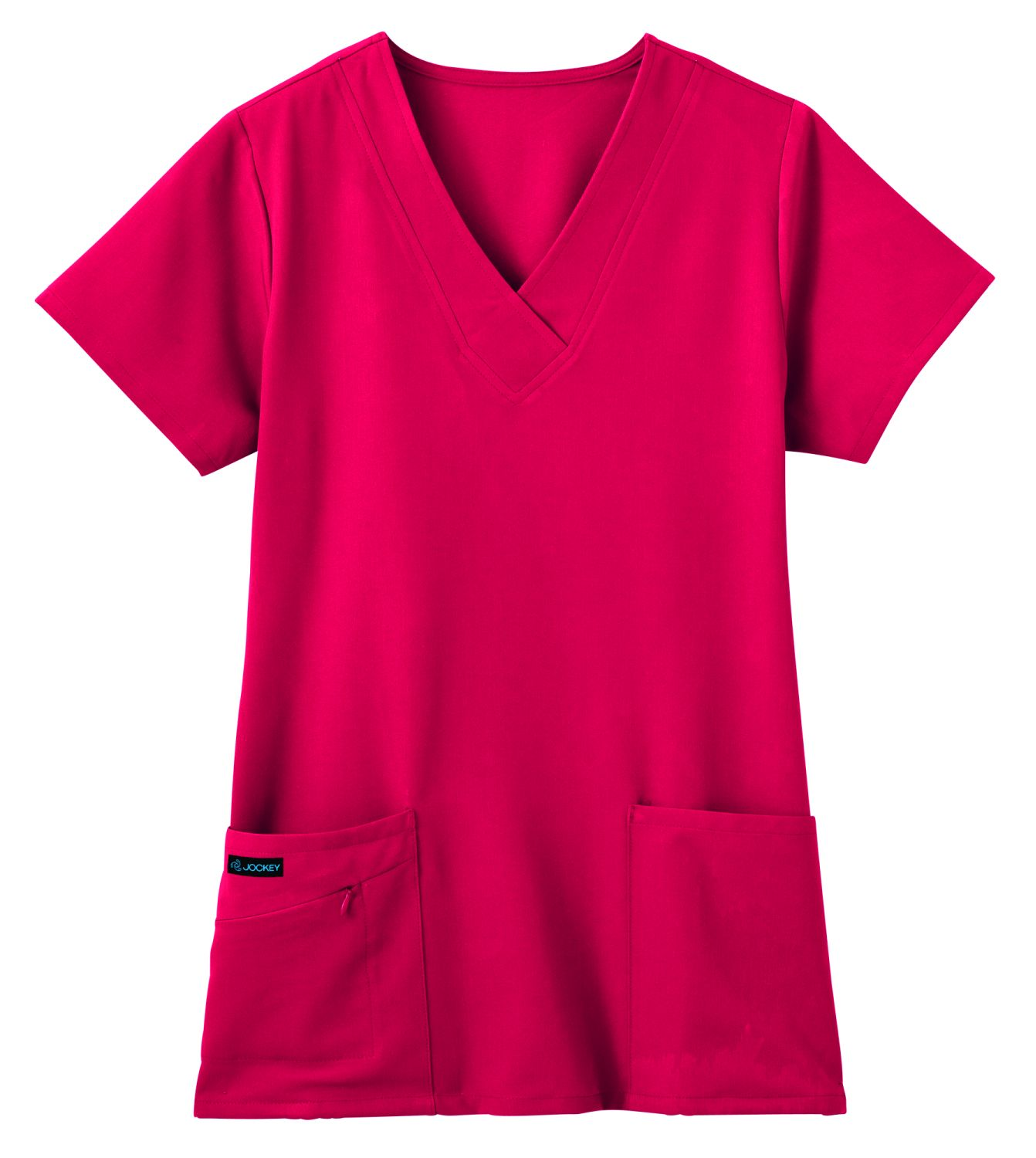 Jockey Classic Ladies V-Neck Stretch Zipper Pocket Top-Jockey� Scrubs