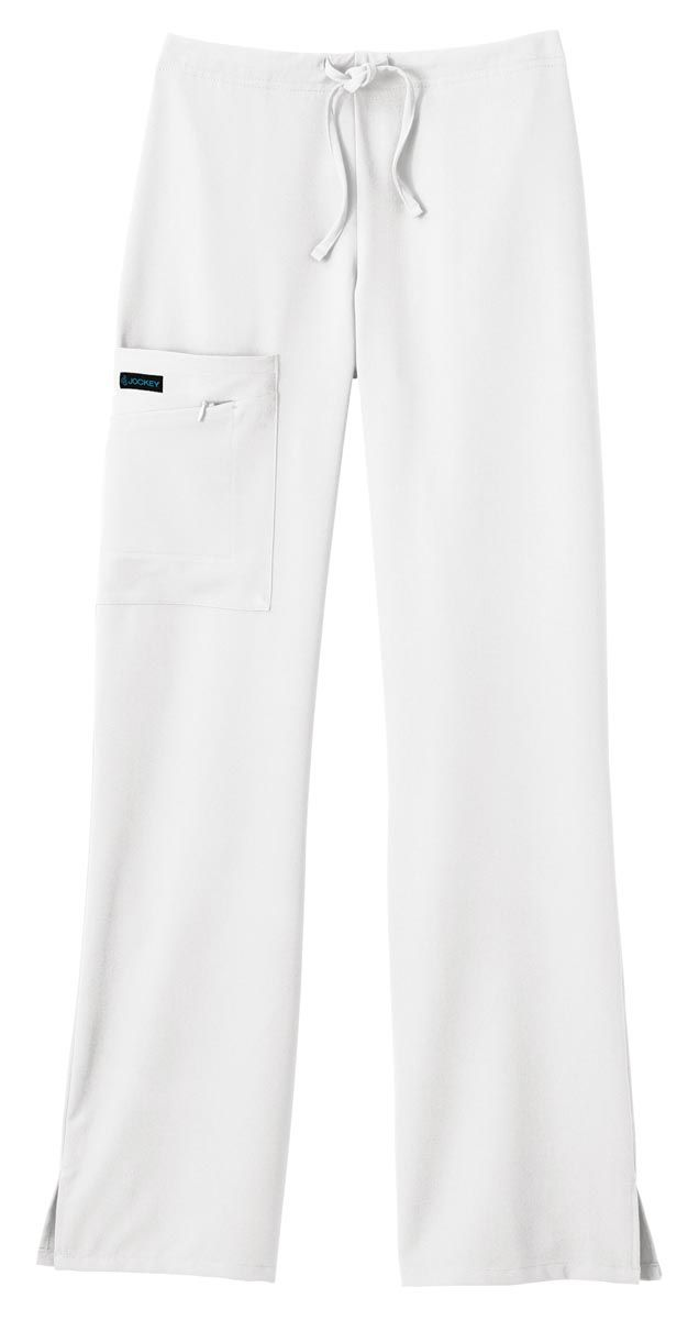 Jockey Classic Ladies 1/2 Elastic, 1/2 Drawstring Stretch Zipper Pocket Pant-Jockey� Scrubs