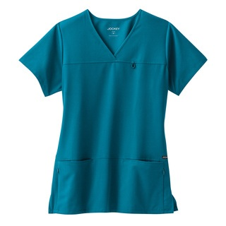 2299 Jockey Ladies 6 Pocket Jewel Stretch Scrub Top-Jockey Scrubs