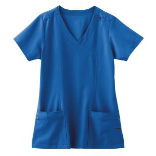 2306 Jockey Ladies Mock Wrap Scrub Top-Jockey Scrubs