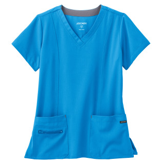 2309 Jockey Ladies Stretch V Neck Top-Jockey Scrubs