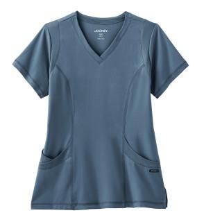 2329 Jockey Ladies Mesh Stretch V-Neck Top-Jockey® Scrubs