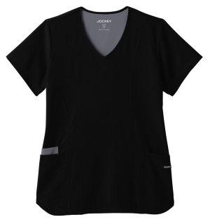 Jockey® Modern Women's Contrast Stitch Stretch Top-Jockey® Scrubs