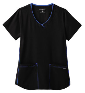 Jockey Classic Ladies Stretch Sporty V-Neck Top-Jockey� Scrubs