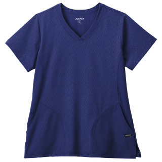 Jockey Classic Ladies V-Neck GeoTech Solid Illusion Hybrid Top-