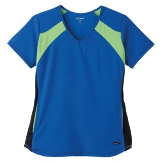 Jockey Ladies Contrast V-Neck Mesh Panel Top-Jockey Scrubs
