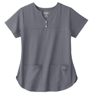 Jockey Ladies Button Placket Shirttail Top-Jockey� Scrubs