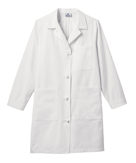 Meta Ladies 38 Cotton Knot Button iPad Labcoat-Meta