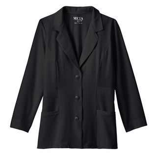 """29"""" Meta Ladies Stretch Consultation Labcoat In Black Or White - 824-Meta"""