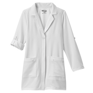"Meta Pro Ladies 33"" Roll-Up Sleeve Stretch Labcoat-Meta"