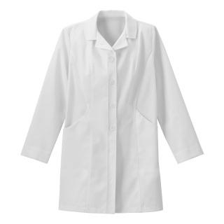 "Meta Pro Ladies 34"" Double Curve Pocket Stretch Labcoat-"