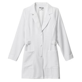 "32"" Meta Pro Ladies  Buckle Belt Stretch Labcoat - 883 011-Meta"