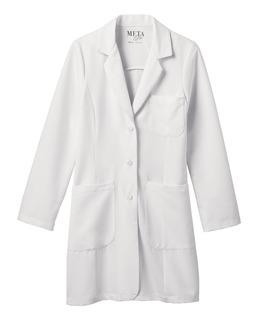 Meta Pro Women's Buckle Belt Tri-Blend Stretch Labcoat