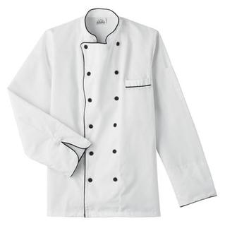 Five Star Executive Chef Jacket with Black Trim-