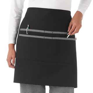Five Star Print Trimmed Waist Apron-Five Star