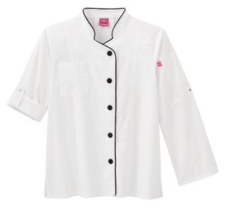 18504 Five Star Long Sleeve Stretch Executive Chef Coat-Five Star