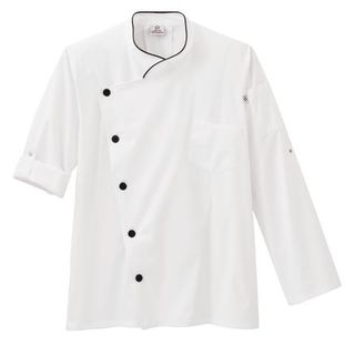 18535_Five Star Moisture Wicking Side Panel Snap Front Chef Coat-Five Star