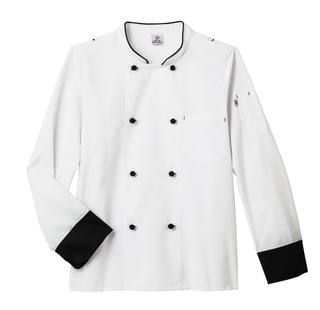 18545_Five Star Moisture Wicking Side Panel Snap Front Chef Coat-Five Star Chef