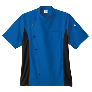 18987_Five Star Moisture Wicking Side Panel Snap Front Chef Coat-Five Star
