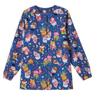 5832_Bio Prints Ladies Raglan Sleeve Warm Up Jacket-